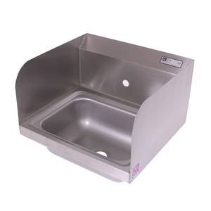 John Boos PBHS-W-1410-1-SSLR 14x10x5 Wall Mount Hand Sink w/ Splash Guards & 1 Hole