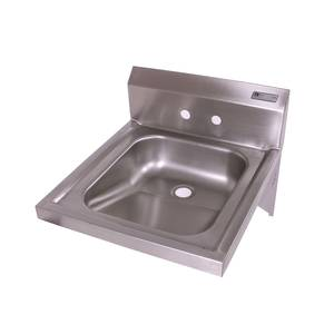 John Boos PBHS-W-1416ADAS Stainless 14 x 16 x 5 Wall Mount Hand Sink w/ 4 Center