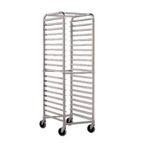 John Boos Rounded Mobile Sheet Pan Rack Front Load Holds 20 Pans - ABPR-1820-RKD