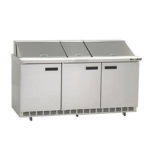 Delfield 4472N-30M 72 Mega Top Refrigerated Sandwich Prep Cooler w/ 30 Pans