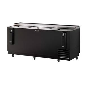 Turbo Air 80in Bottle Cooler Black Vinyl Exterior with 3 Sliding Doors - TBC-80SB