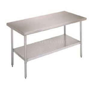 John Boos FBLG7224 Stainless 72 x 24 Economy Work Table Galvanized Undershelf
