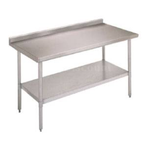 John Boos Stainless 96 x 24 Economy Work Table w/ 1.5 Rear Upturn - UFBLG9624