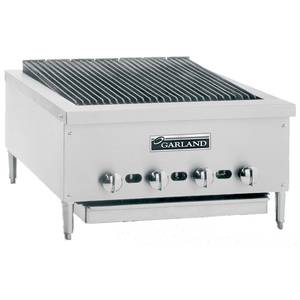 Garland 24 Countertop Radiant Gas Charbroiler w/ Non-Adjust Grates - GTBG24-NR24