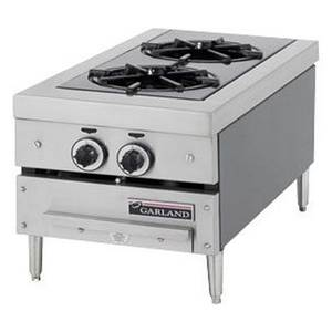 Garland 12 Countertop Front-to-Back 2-Burner Gas Hotplate - GTOG12-2