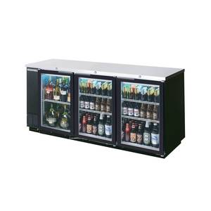 Beverage-Air BB72GSY-1-S 72in Sliding Glass Door Back-Bar Cooler Stainless Exterior