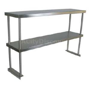 John Boos OS-ED-1260 Stainless 60 x 12 Double Overshelf Table Mounted
