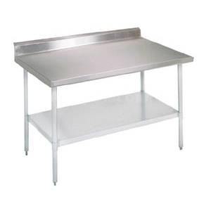 John Boos 60x24 Work Table Stainless 5 Riser Galvanized Undershelf - FBLGR5-6024