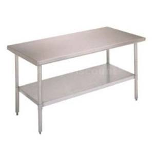 John Boos FBLS7230 72 x 30 All Stainless Steel Work Table w/ Undershelf