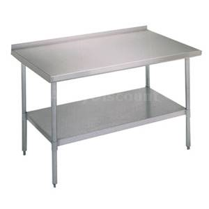 John Boos 72 x 30 All Stainless Work Table 1.5 Riser w/ Undershelf - UFBLS7230