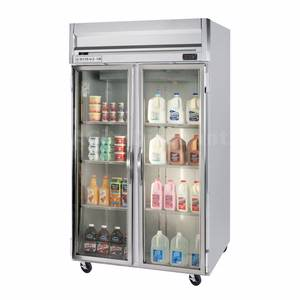 Beverage-Air 49 CuFt Horizon Spec Series LED Glass 2-Door Reach-In Cooler - HRPS2-1G