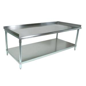 John Boos 72 x 30 S/s Equipment Stand 16 Gauge Stainless Undershelf - GS6-3072SSK