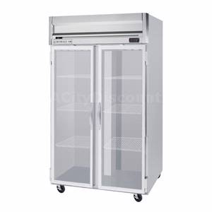 Beverage-Air 49 CuFt Horizon Spec Series LED Glass Reach-In Freezer - HFPS2-1G-LED