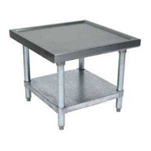 John Boos Heavy Duty 30x24 All Stainless Machine Stand w/ Undershelf - MS4-2430SSK
