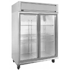 Randell 2022E 46 CuFt All S/S Double Sliding Glass Door Refrigerator
