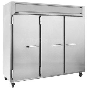 Randell 2030F 72 CuFt Reach-In Triple Door Freezer