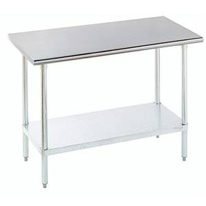 Advance Tabco 30 x 24 S/s Work Table 16 Gauge with Galvanized Undershelf - ELAG-240-X