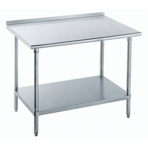 Advance Tabco FLAG-303-X 36x30 Work Table S/s 1.5 Riser 16 Gauge Galvanized Shelf