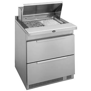 Randell 9412-32D-7 32 Single Door Sandwich / Salad Prep Cooler w/ Drawers