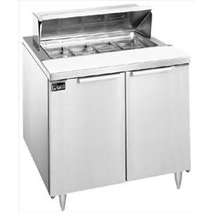 Randell 9801-7 36 Dual Door Refrigerated Sandwich / Salad Prep Unit