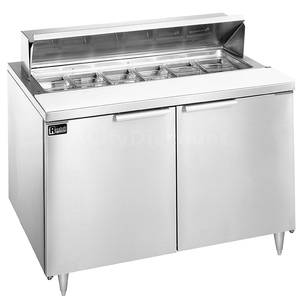 Randell 9304-7 48 Dual Door Sandwich / Salad Prep Cooler 10 Pan Capacity