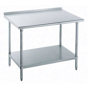 Advance Tabco 96x24 All S/s Work Table 1.5 Riser 16 Gauge w/ Undershelf - SFLAG-248-X
