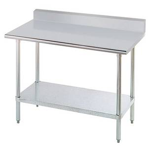 Advance Tabco 48 x 24 All S/s Work Table 5 Riser 16 Gauge w/ Undershelf - KSLAG-244-X