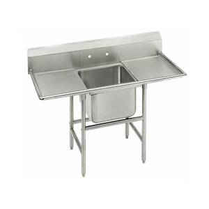 Advance Tabco 1 Compartment Sink S/s 18x18x14 Bowl Two 24 Drainboards - FC-1-1818-24RL-X