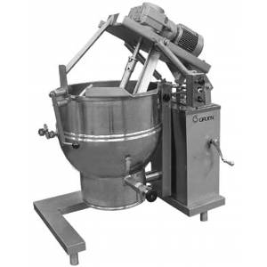 Groen DHT-40,INA/2 Floor Model Gas Tilting Mixer Kettle w/ 40 Gal. Capacity