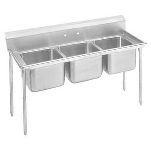 Advance Tabco T9-3-54-X 3 Compartment Sink 18 Gauge 16x20 Bowls Stainless