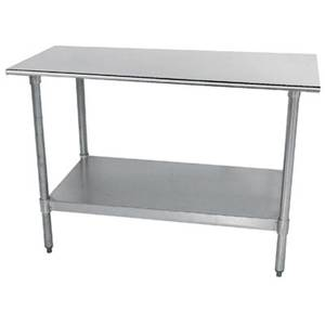Advance Tabco 48 x 24 S/s Work Table 18 Gauge with Galvanized Undershelf - TT-244-X