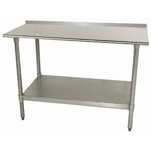 Advance Tabco TTF-245-X 60x24 S/s Work Table 1.5 Riser 18 Gauge Galvanized Shelf