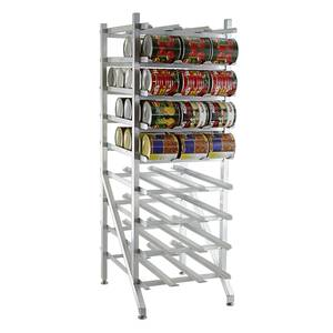 Lakeside 335 Freestanding 77.25H Mobile Can Rack w/ 144 - #10 Can Cap.