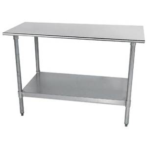 Advance Tabco 48 x 24 All Stainless Work Table 18 Gauge with Undershelf - TTS-244-X