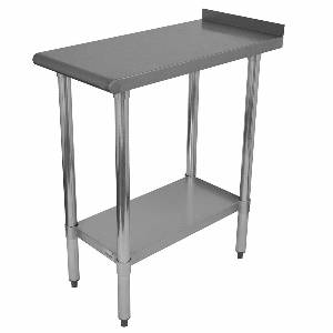 Advance Tabco 18 x 30 S/s Filler Table 18 Gauge w/ Galvanized Undershelf - FT-3018-X