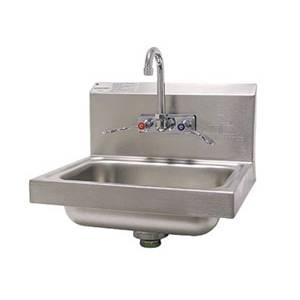 Advance Tabco 7-PS-68-1X Wall Mount Hand Sink 14x10x5 Bowl w/ Wrist Handle Faucet