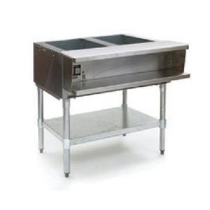 Eagle Group WT2 2-Well Electric Steam Table w/ Galvanized Shelf & Legs