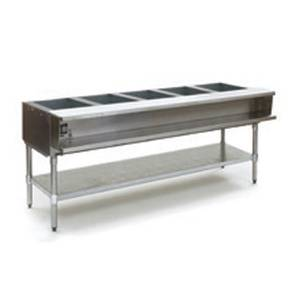 Eagle Group 5-Well Electric Steam Table w/ Galvanized Shelf & Legs - WT5