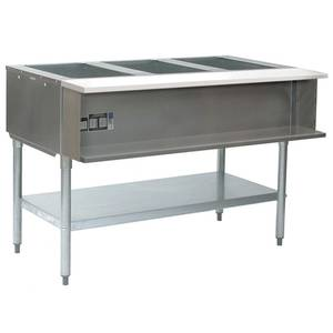 Eagle Group SWT3 3-Well Electric Steam Table w/ S/S Shelf & Legs