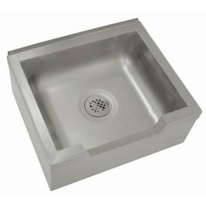 Advance Tabco 20 x 16 x 12 Stainless Mop Sink Floor Mounted - 9-OP-40DF-X