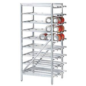 Advance Tabco Aluminum Full Can Rack Stationary Holds (162) #10 Cans - CR10-162-X