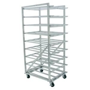 Advance Tabco Mobile Aluminum Full Can Rack Holds (162) #10 Cans - CR10-162M-X