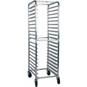 Win-Holt AL-1820B End Loading Welded Aluminum 20 Pan Bun Rack