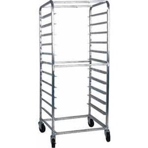 Win-Holt Side Loading Welded Stainless Steel 10 Pan Bun Rack - SS-2610B