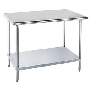 Advance Tabco 24 x 24 S/s Mixer Stand 18 Gauge w/ Galvanized Undershelf - AG-MT-242-X