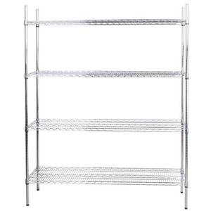 Advance Tabco 60 x 24 Chrome Wire Shelving Unit 74 Posts - ECC-2460-X