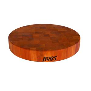 John Boos CHY-CCB15-R 15 Round Cherry Chopping Block 2.5 Thick Non-Reversible