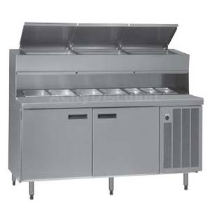 Delfield 72 Wide Dual Rail Refrigerated Sandwich Prep Table - F18PD72