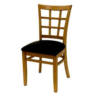 All About Furniture Wood Window Back Dining Chair w/ Wood Seat - WC804 WS