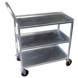 Win-Holt 18 x 32 Three Shelf Welded Stainless Steel Utility Cart - UC-3-1832SS